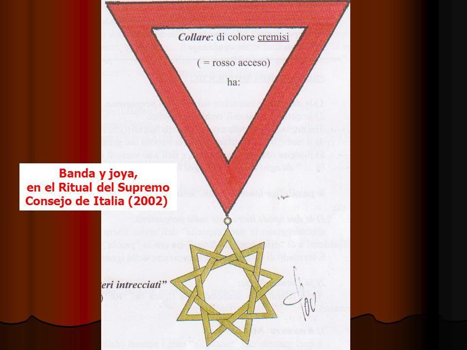 Banda y joya, en el Ritual del Supremo Consejo de Italia (2002)