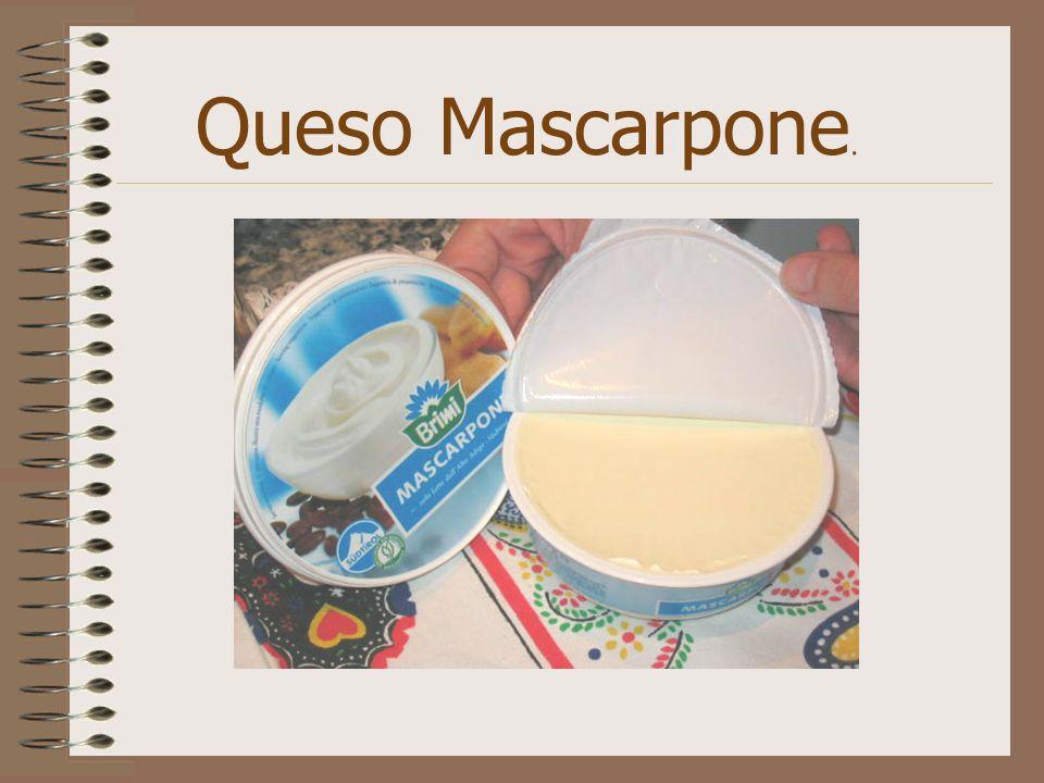 Queso Mascarpone.