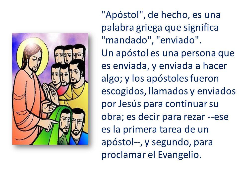 La Iglesia es apostólica porque está fundada en la oración y la predicación de los apóstoles, en la autoridad que les fue dada por el mismo Cristo.