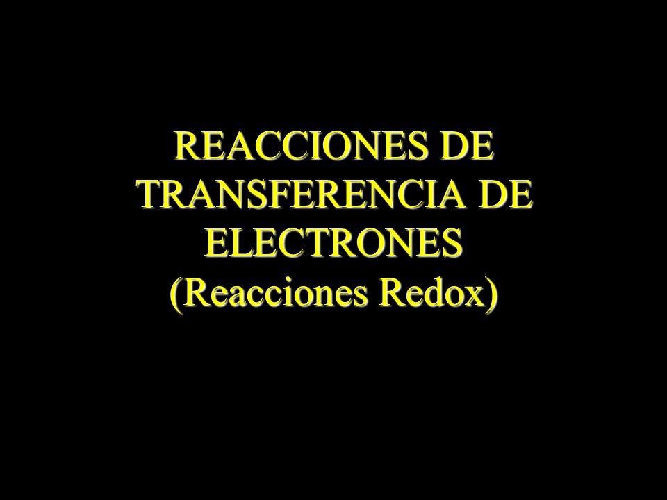 Ejemplo: Comprobar que la reacción de formación de hierro: Fe 2 O 3 + 3 CO 2 Fe + 3 CO 2 es una reacción redox.