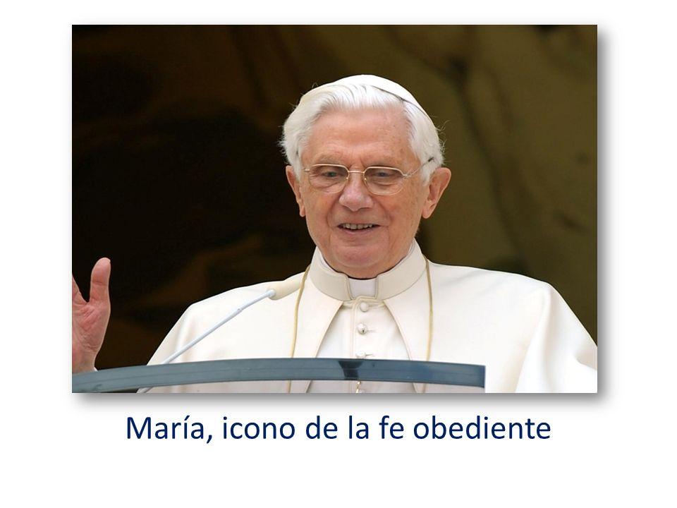María, icono de la fe obediente