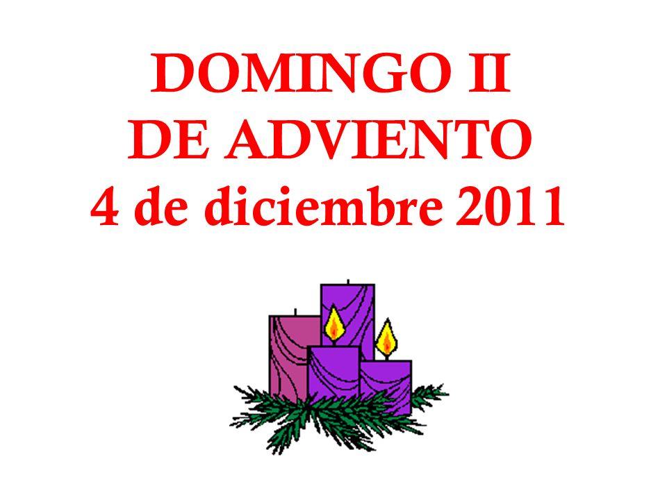 DOMINGO II DE ADVIENTO 4 de diciembre 2011