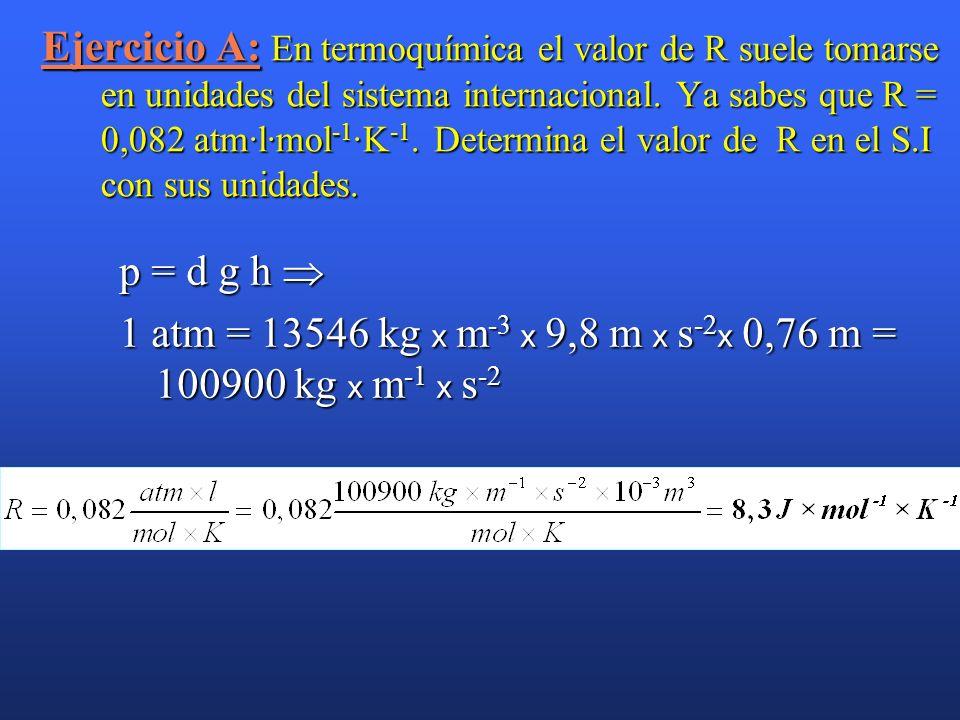 Relación Q v Q p (gases). Relación Q v con Q p (gases). H = U + p · V H = U + p · V Aplicando la ecuación de los gases: p · V = n · R · T Aplicando la