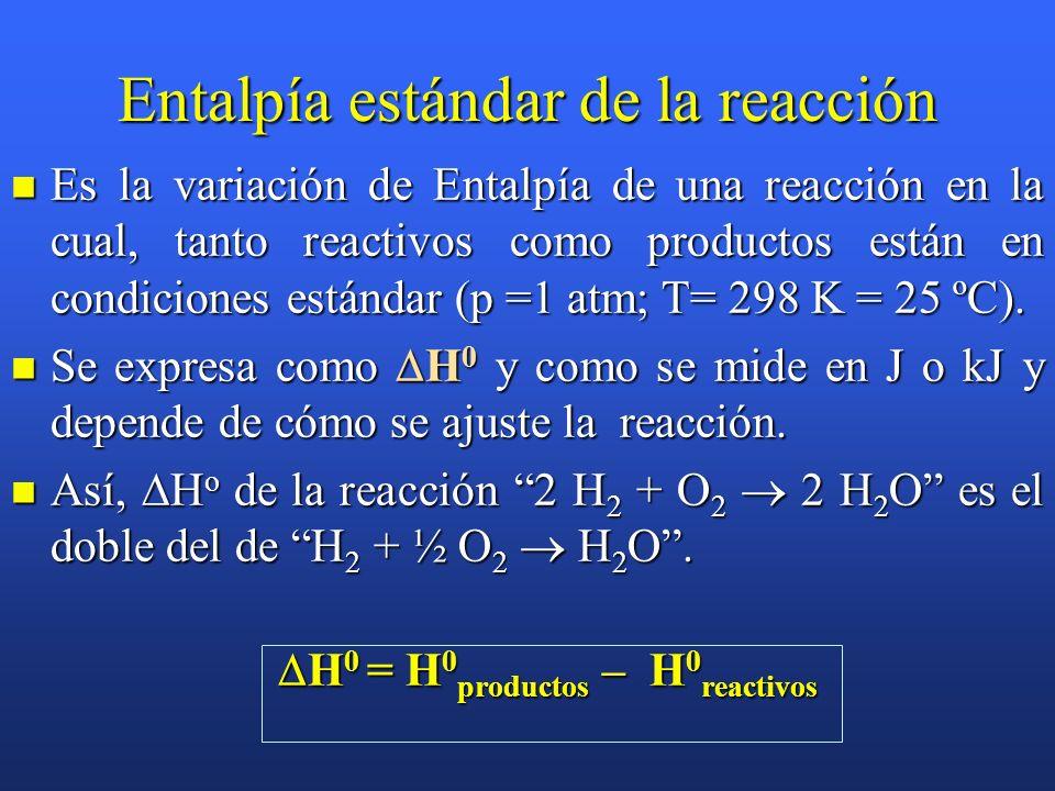Ejemplo: Determinar la variación de energía interna para el proceso de combustión de 1 mol de propano a 25ºC y 1 atm, si la variación de entalpía, en