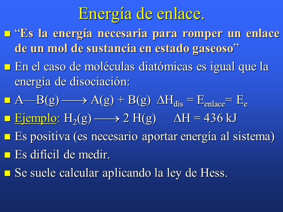 Ejercicio D: Las entalpías de combustión de la glucosa (C 6 H 12 O 6 ) y del etanol (C 2 H 5 OH)son –2815 kJ/mol y –1372 kJ/mol, respectivamente. Con