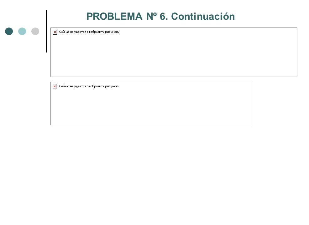 PROBLEMA Nº 6. Continuación