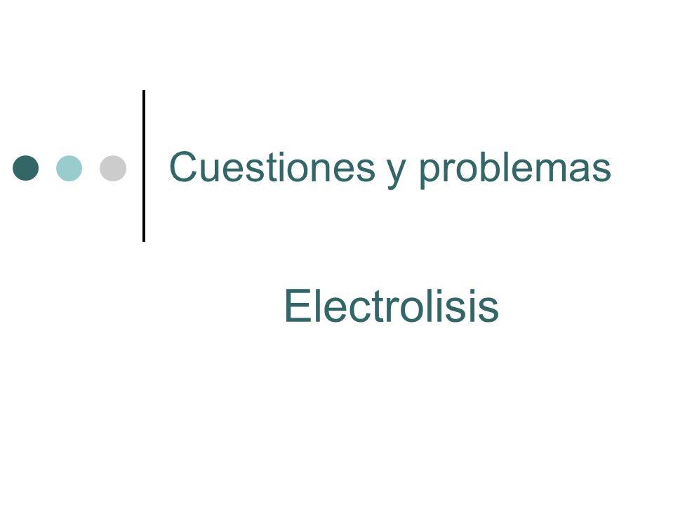 Cuestiones y problemas Electrolisis
