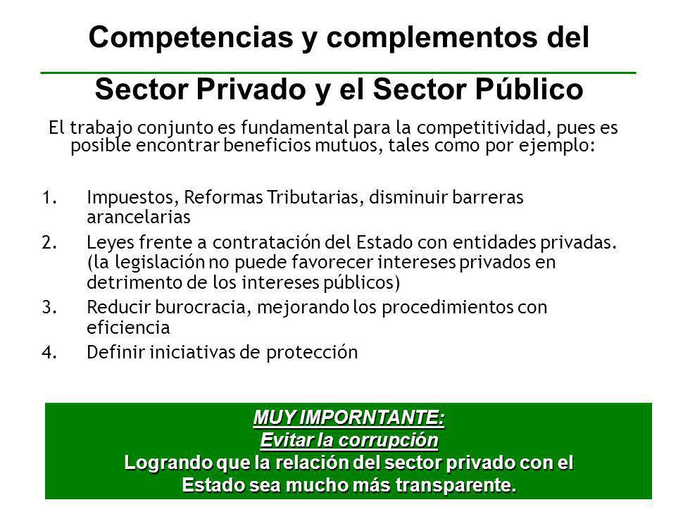 Representante a la Cámara por Bogotá – DAVID LUNA El trabajo conjunto es fundamental para la competitividad, pues es posible encontrar beneficios mutuos, tales como por ejemplo: MUY IMPORNTANTE: Evitar la corrupción Logrando que la relación del sector privado con el Estado sea mucho más transparente.