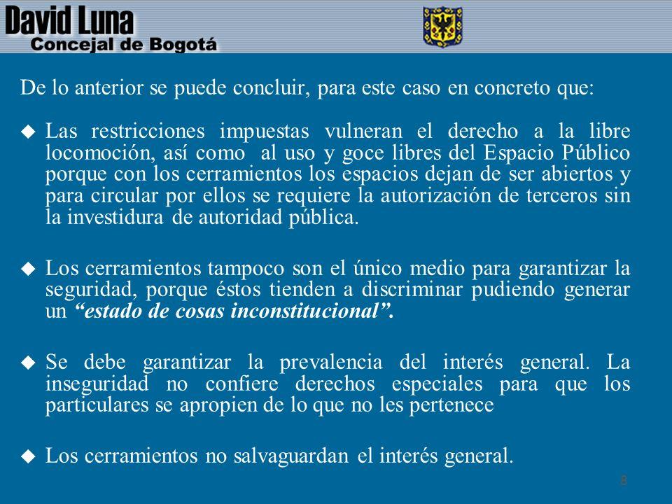19 BIBLIOGRAFIA u Sentencia T – 518 de 1992, Corte Constitucional.
