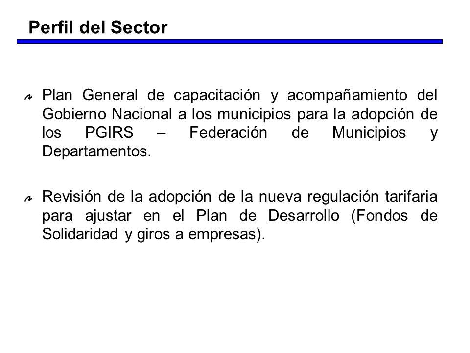 Plan General de capacitación y acompañamiento del Gobierno Nacional a los municipios para la adopción de los PGIRS – Federación de Municipios y Depart