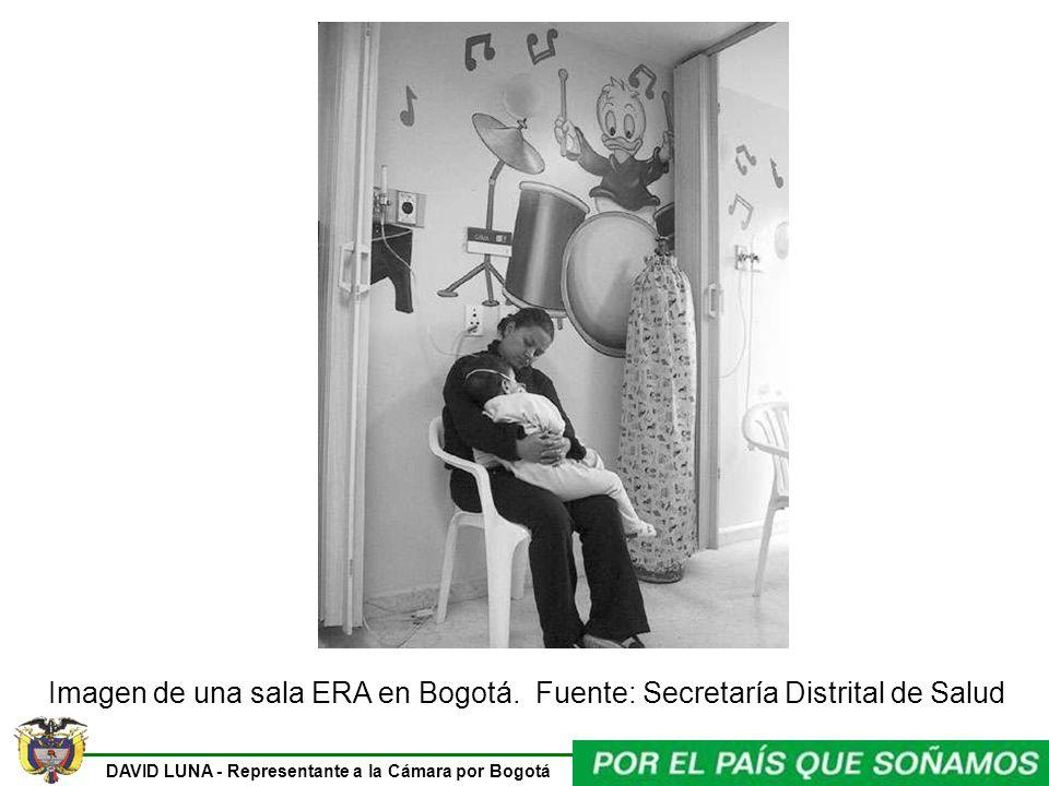 DAVID LUNA - Representante a la Cámara por Bogotá Imagen de una sala ERA en Bogotá. Fuente: Secretaría Distrital de Salud