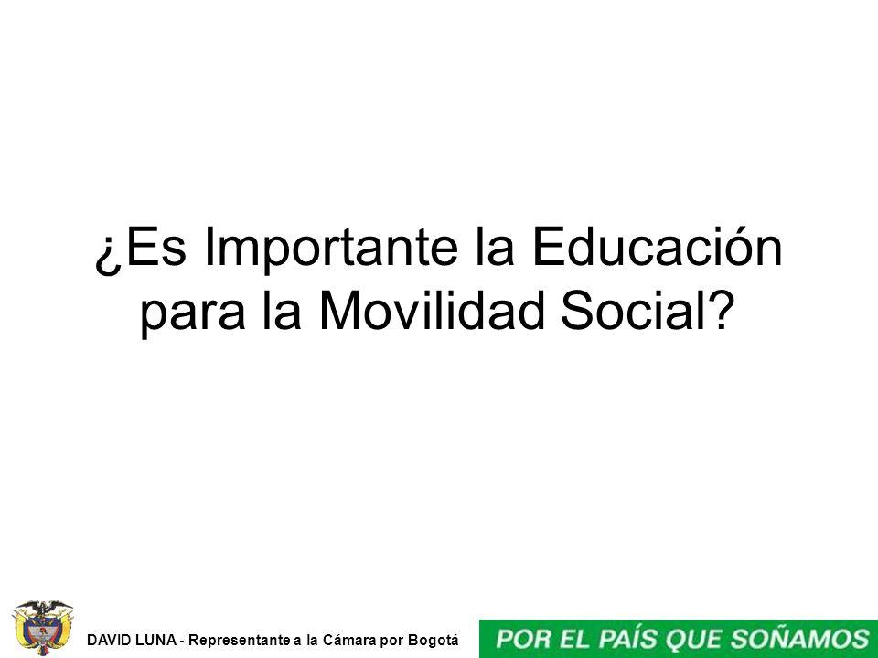 DAVID LUNA - Representante a la Cámara por Bogotá ¿Es Importante la Educación para la Movilidad Social?