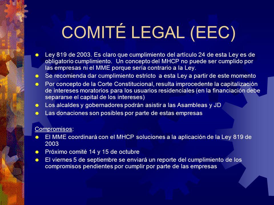 COMITÉ LEGAL (EEC) Ley 819 de 2003. Es claro que cumplimiento del artículo 24 de esta Ley es de obligatorio cumplimiento. Un concepto del MHCP no pued