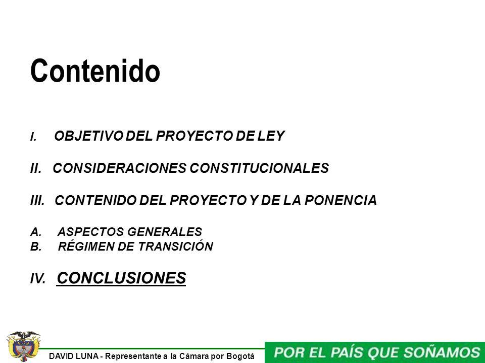 DAVID LUNA - Representante a la Cámara por Bogotá Contenido I.