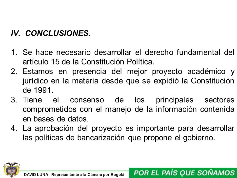 DAVID LUNA - Representante a la Cámara por Bogotá IV.