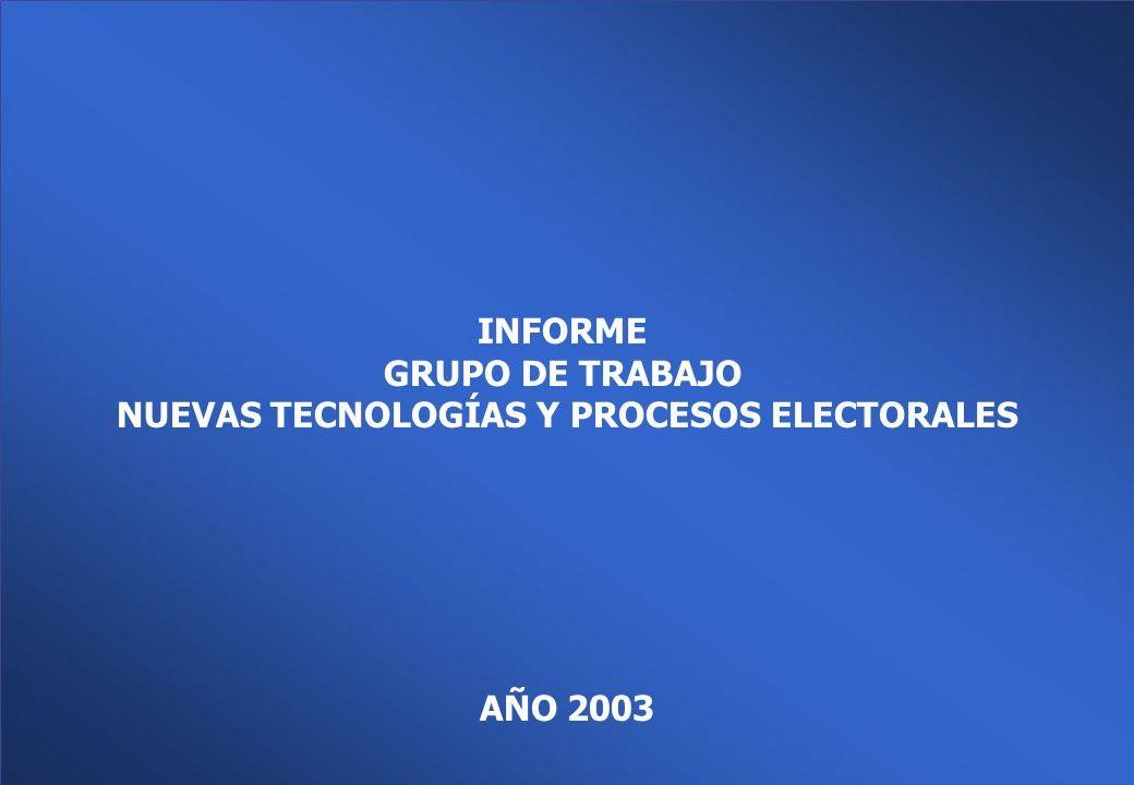 Grupo de Trabajo Nuevas Tecnologías y Procesos Electorales Ministerio del Interior Dirección Nacional Electoral Introducción de Nuevas Tecnologías en los Procesos Electorales La tecnología es hoy un elemento clave y esencial para la logística de las elecciones a gran escala.