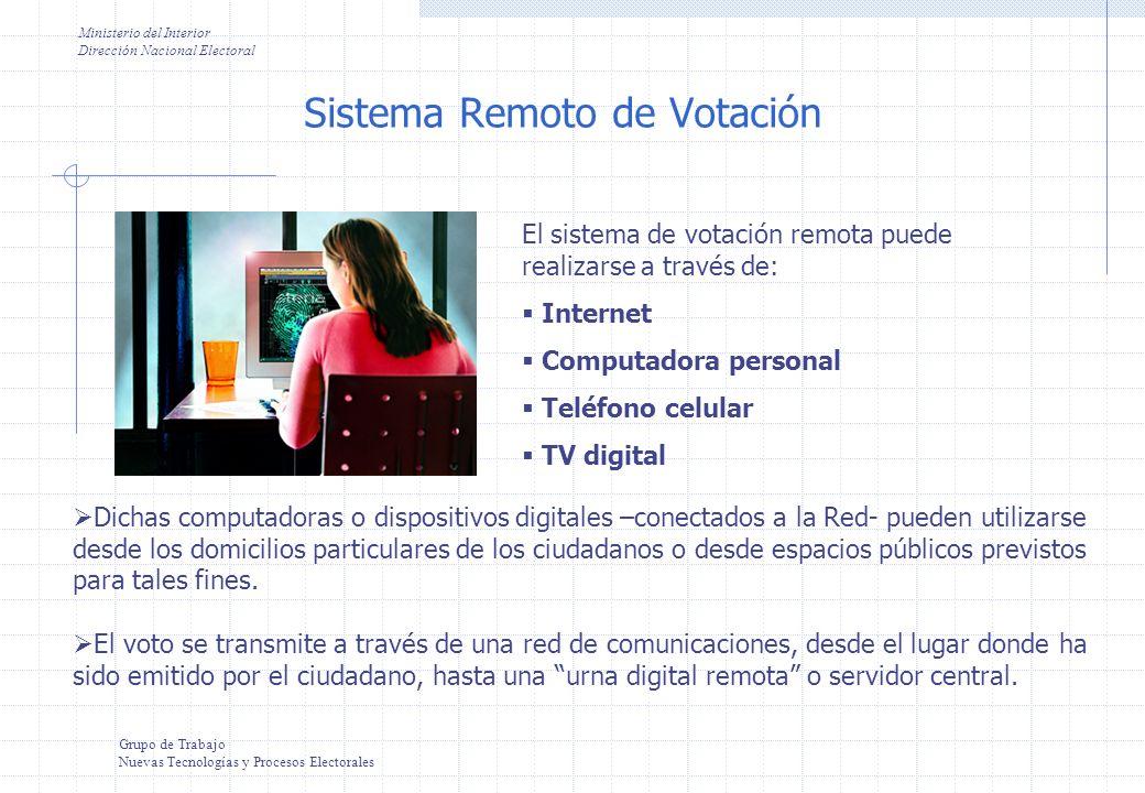 Grupo de Trabajo Nuevas Tecnologías y Procesos Electorales ¿Por qué Internet no es un sistema conveniente.