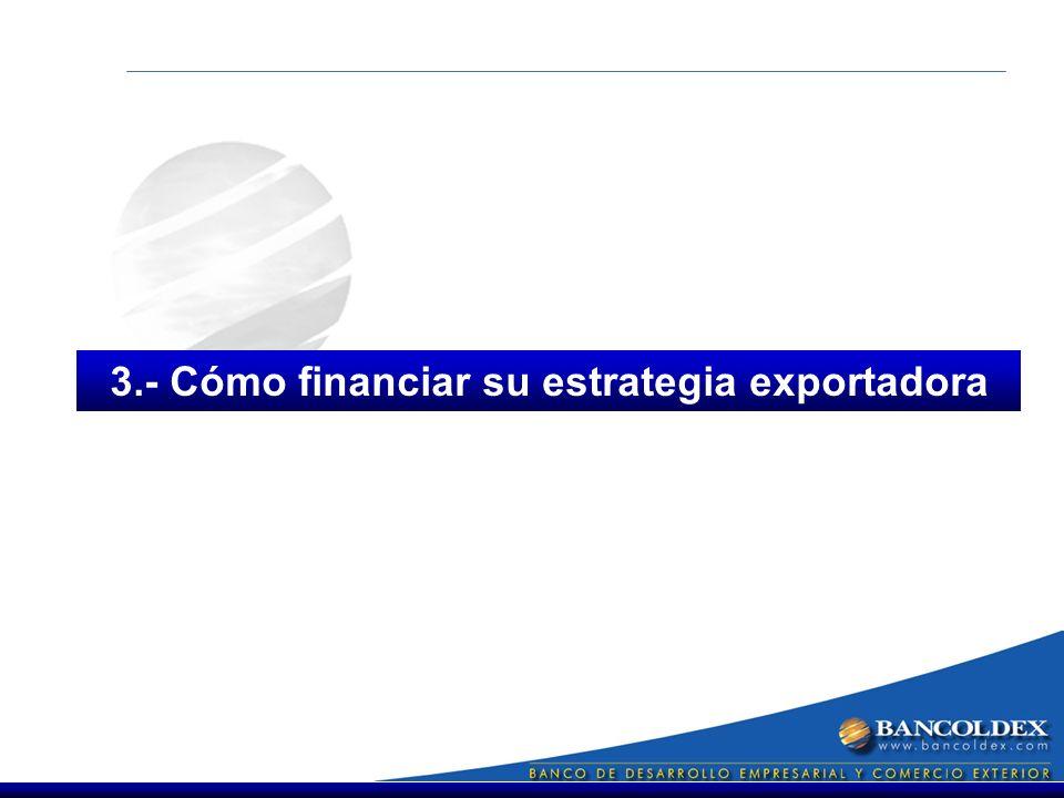 3.- Cómo financiar su estrategia exportadora