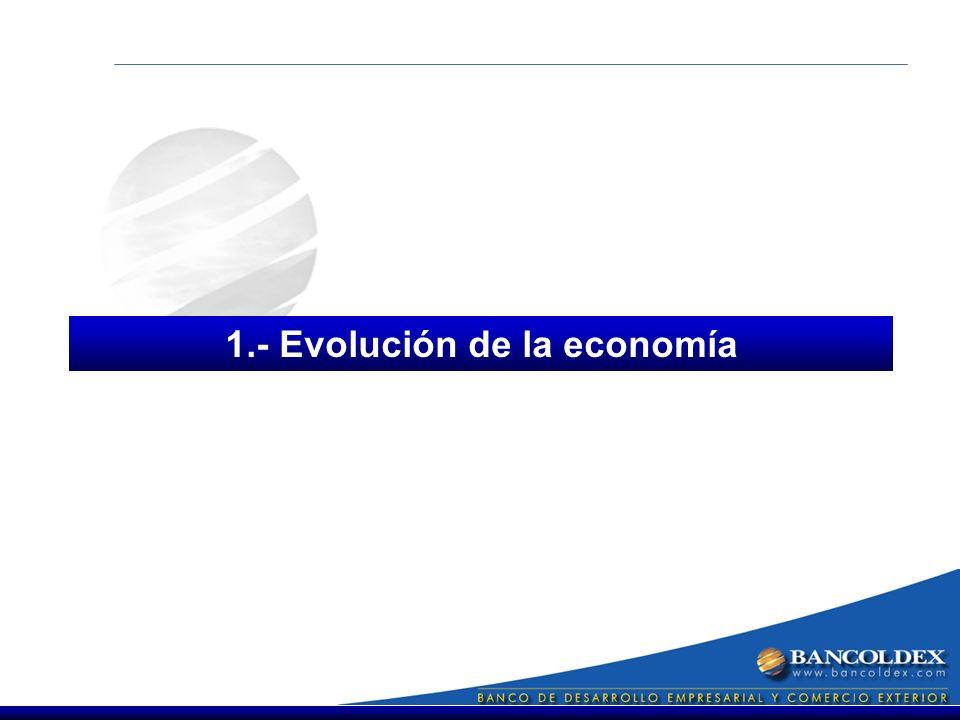 1.- Evolución de la economía