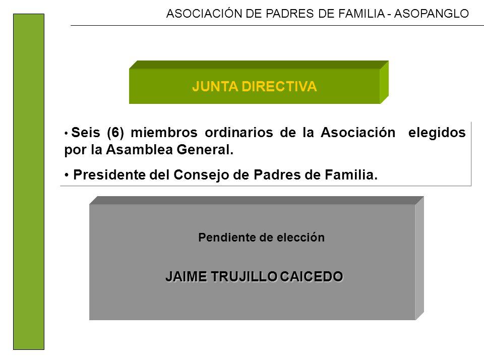 ASOCIACIÓN DE PADRES DE FAMILIA - ASOPANGLO DIRECCION EJECUTIVA DIRECCION EJECUTIVA Dirección y Coordinación SECRETARIADIRECCION JUNTA DIRECTIVA JUNTA