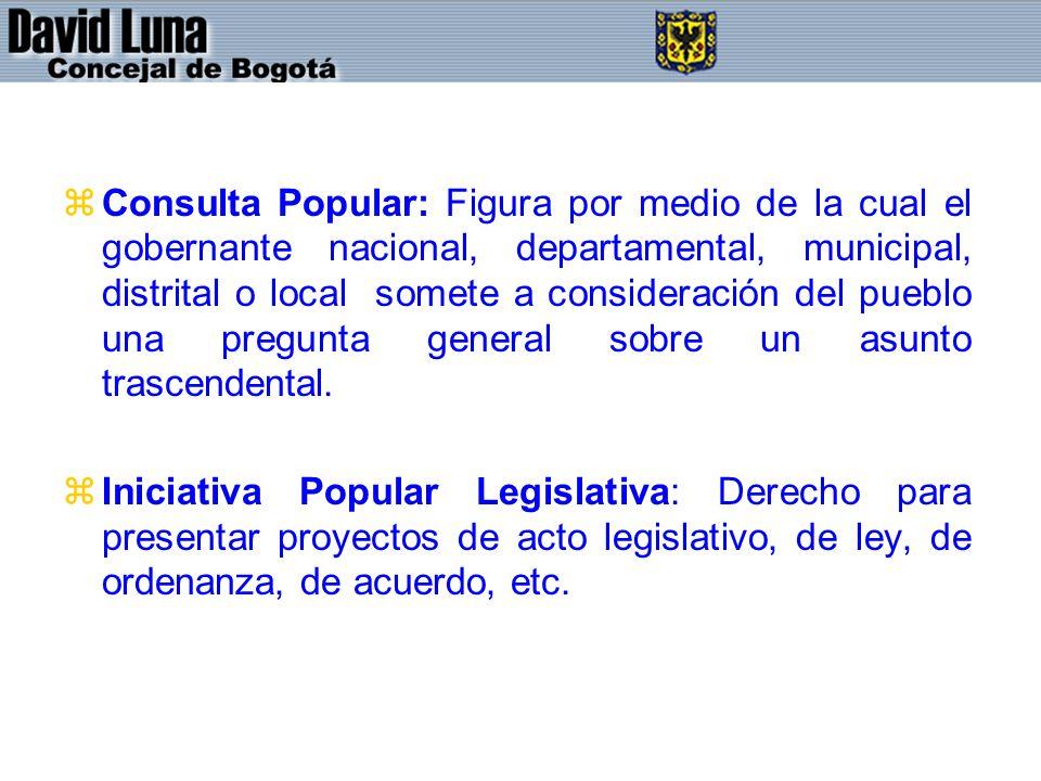 zConsulta Popular: Figura por medio de la cual el gobernante nacional, departamental, municipal, distrital o local somete a consideración del pueblo una pregunta general sobre un asunto trascendental.