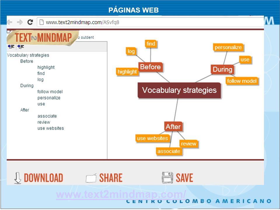 www.text2mindmap.com/ PÁGINAS WEB