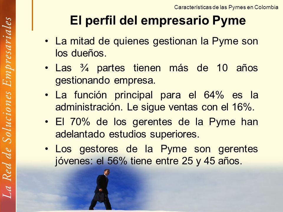 © Copyright FUNDES Características de las Pymes en Colombia Las Pymes son empresas maduras