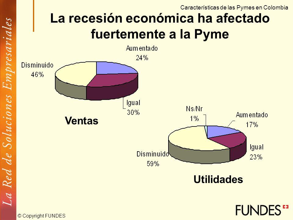 © Copyright FUNDES La Pyme no ha sido ajena a la situación económica del país Los principales obstáculos – situación económica