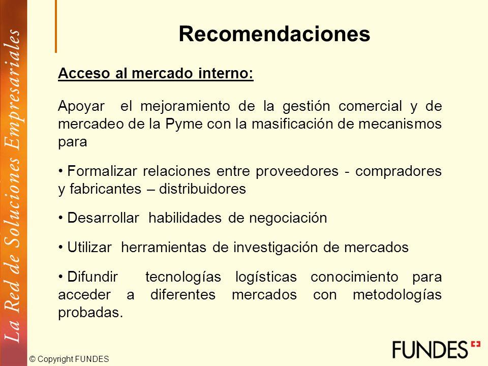 © Copyright FUNDES Recomendaciones Sistema tributario: Promover la formalización de las empresas más pequeñas a través de un regimen especial temporal