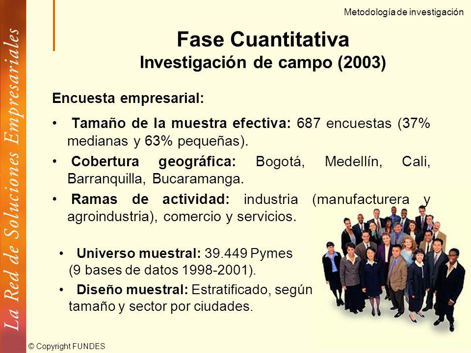 © Copyright FUNDES Obstáculos indagados Situación económica del país Acceso al financiamiento Sistema tributario Acceso al mercado interno Apoyo y fun