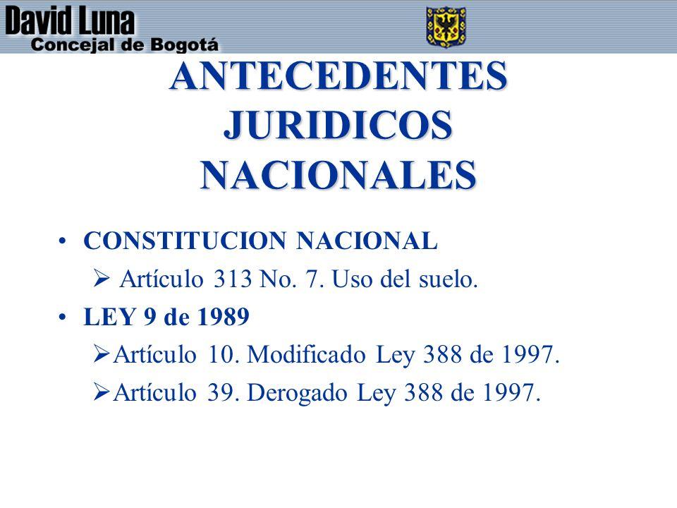ANTECEDENTES JURIDICOS NACIONALES CONSTITUCION NACIONAL Artículo 313 No.