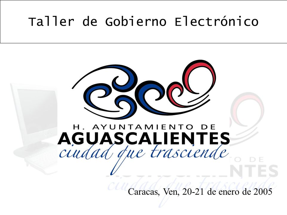 Taller de Gobierno Electrónico Caracas, Ven, 20-21 de enero de 2005