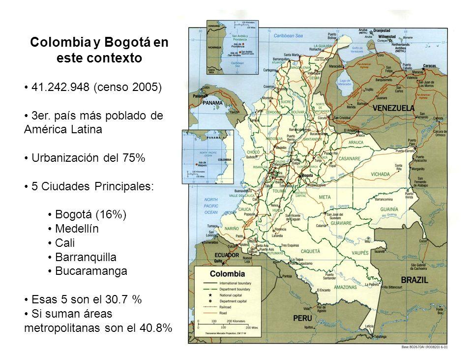 6 Colombia y Bogotá en este contexto 41.242.948 (censo 2005) 3er.