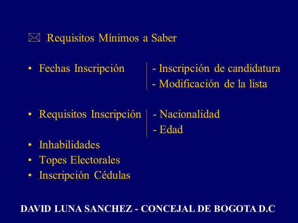 *Estrategias de Mercadeo - Correo Electrónico - Correo Directo - Call Center - Activistas 1. ESTRATEGIA PRE-ELECTORAL DAVID LUNA SANCHEZ - CONCEJAL DE
