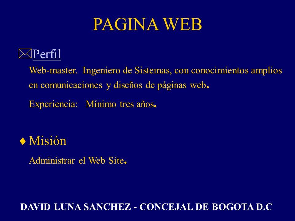 SECRETARIA *PerfilPerfil Persona con conocimientos en sistemas y contabilidad, con dedicación exclusiva a las labores Administrativas de la Campaña. M
