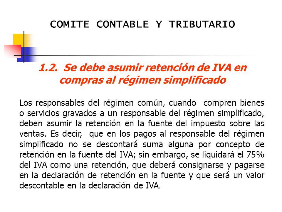 COMITE CONTABLE Y TRIBUTARIO 5° DEVOLUCION DE IMPUESTOS SOBRE LAS VENTAS, IMPUESTO DE TIMBRE Y RETENCION EN LA FUENTE.