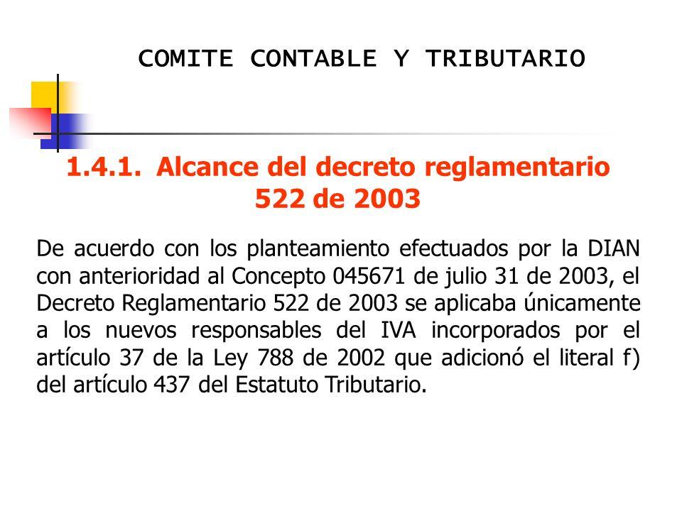 COMITE CONTABLE Y TRIBUTARIO AL INICIAR LA VISITA 1.