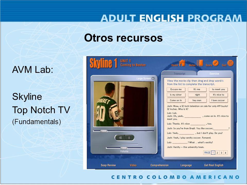 Otros recursos AVM Lab: Skyline Top Notch TV (Fundamentals)