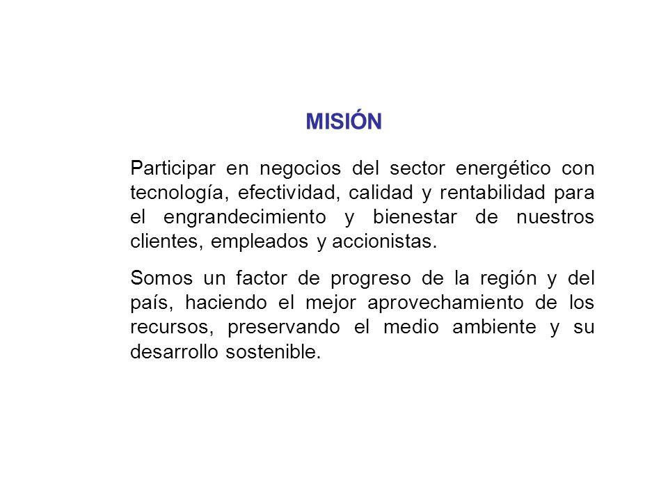 Participar en negocios del sector energético con tecnología, efectividad, calidad y rentabilidad para el engrandecimiento y bienestar de nuestros clie