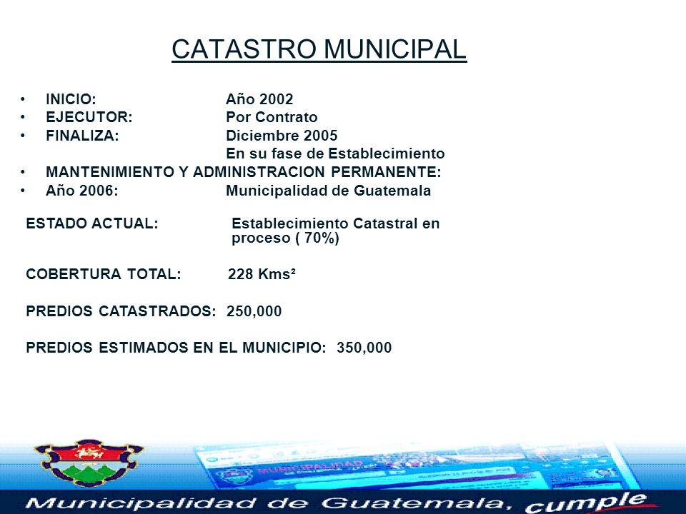CATASTRO MUNICIPAL Seguridad Jurídica de la Propiedad y Generador de Recursos para el Desarrollo de Proyectos Sociales