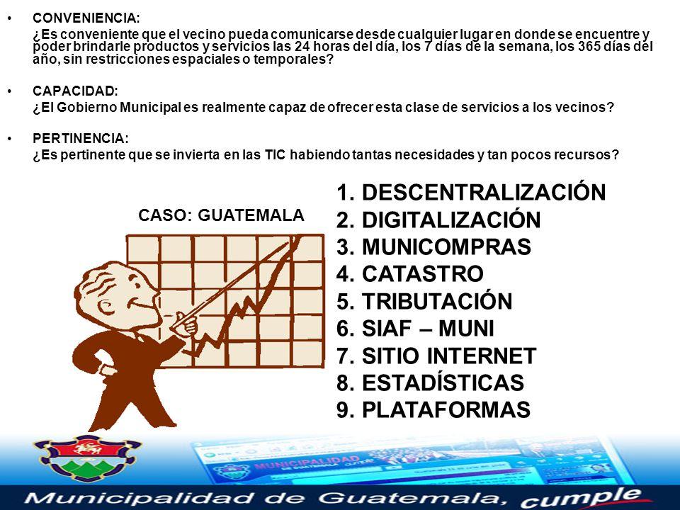 Sitio Web www.nuestramuni.comwww.nuestramuni.com Correo Electrónico mail.nuestramuni.com Administración WebMin (Central y MiniMunis) Comunicación Inst