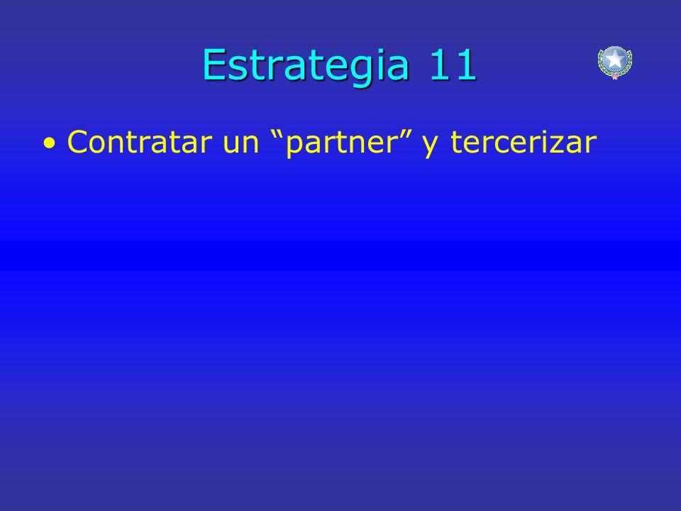 Estrategia 11 Contratar un partner y tercerizar