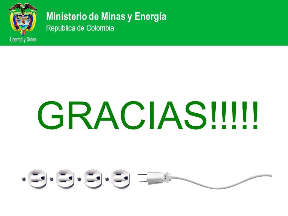 GRACIAS!!!!! Ministerio de Minas y Energía República de Colombia