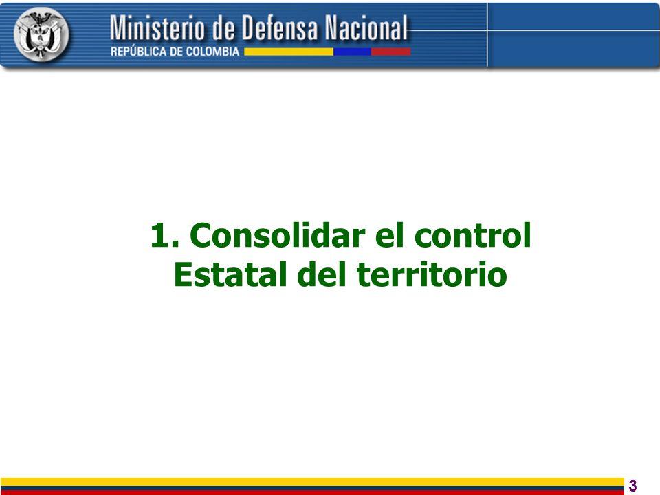 3 1. Consolidar el control Estatal del territorio