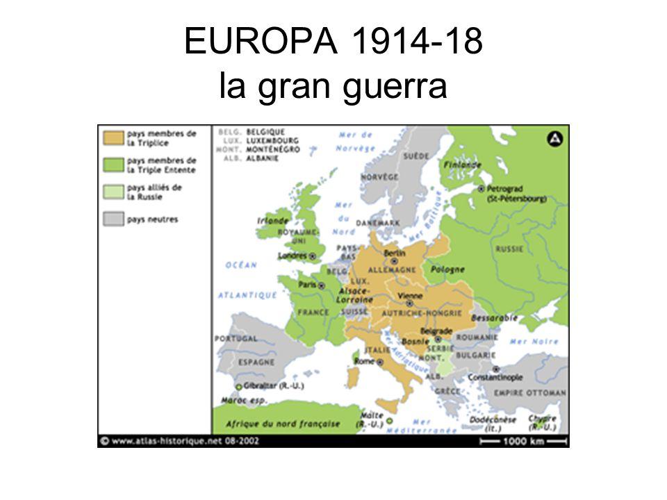 EUROPA 1914-18 la gran guerra