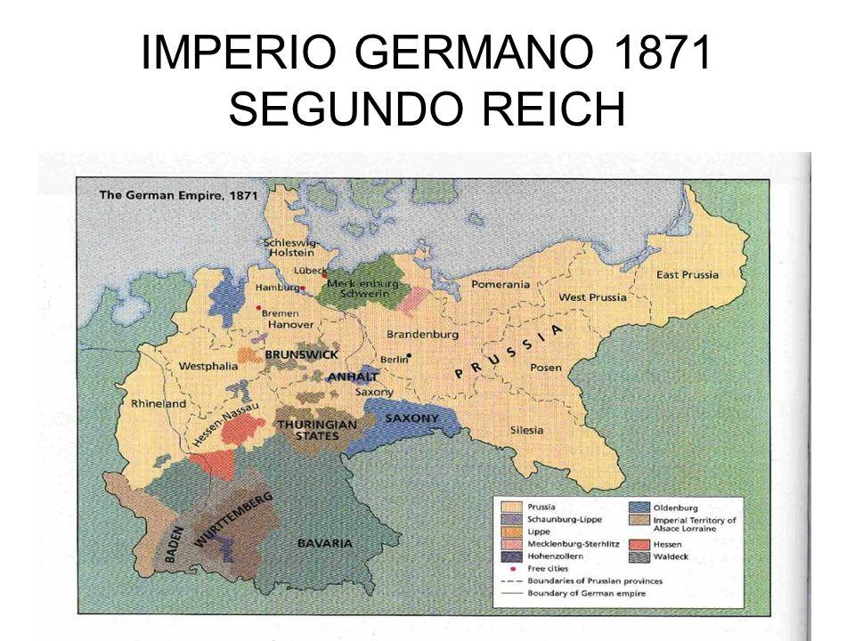 IMPERIO GERMANO 1871 SEGUNDO REICH
