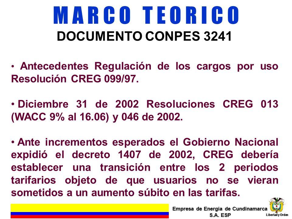 EFECTO EN LA VIABILIDAD FINANCIERA APLICACIÓN CONPES 3241 Empresa de Energía de Cundinamarca S.A.
