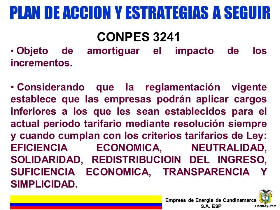 PLAN DE ACCION Y ESTRATEGIAS A SEGUIR Empresa de Energía de Cundinamarca S.A. ESP Libertad y Orden 5 Empresa de Energía de Cundinamarca S.A. ESP Liber