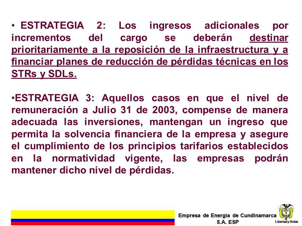 EFECTO EN LA VIABILIDAD EMPRESARIAL PERDIDAS REALES DEL SISTEMA Empresa de Energía de Cundinamarca S.A.