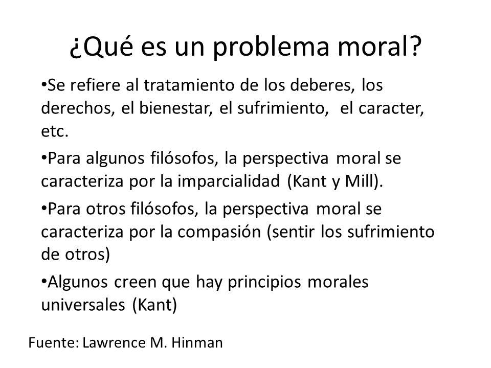 ¿Qué es un problema moral.